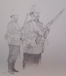 Soldier, 24th of Foot at Rorkes Drift by Chris Collingwood. (P)