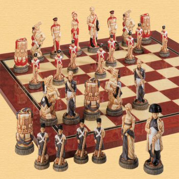 Battle of Waterloo Chess Pieces.