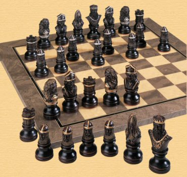 Richard the Lionheart Chess Pieces.