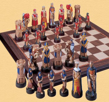 Battle of Bannockburn Chess Pieces.