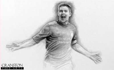 Steven Gerrard - Liverpool Legend by Stephen Doig.