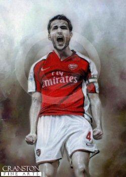 Cesc Fabregas - Arsenal No.4 by Stephen Doig.