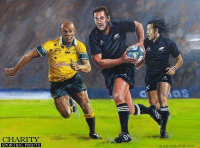 Caleb Ralph - Tri-Nations Series 2002 - New Zealand 12 - Australia 6 by David Pentland.