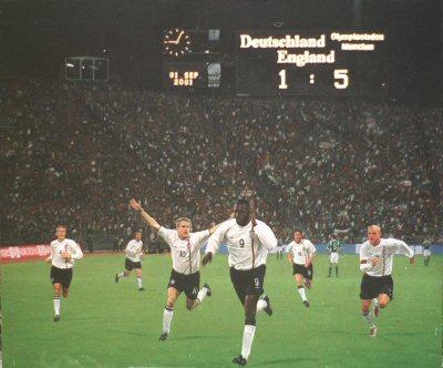 England v Germany 5 - 1 by Darren Baker