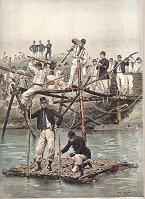 Corps Du Genie - Construction d'un Pont de Fascines by Edouard Detaille (P)
