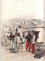 Campement de Zouaves by Edouard Detaille (P)