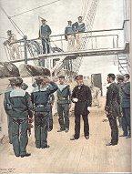 Vice-Amiral, Lieutenant de Vaisseau, Aspirants, Fusiliers Marins - Tenue de Service by Edouard Detaille (P)