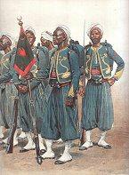 Tirailleurs Indigenes - Grande Tenue by Edouard Detaille (P)