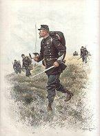 Chasseurs a Pied - Sergent Major, Tenue de Campagne by Edouard Detaille (P)