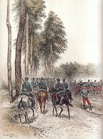 Hussards - Service en Campagne by Edouard Detaille (P)
