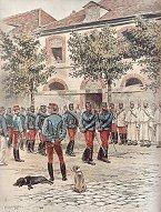 Chasseurs a Cheval - Defile de la Parade by Edouard Detaille (P)