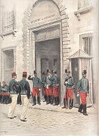 Hussards Grande Tenue - Quartier de Cavalerie by Edouard Detaille (P)