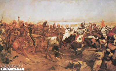 The Charge of the 21st Lancers at the Battle of Omdurman by Richard Caton Woodville.