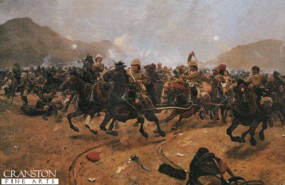 Saving the Guns at the Battle of Maiwand by Richard Caton Woodville. (P)