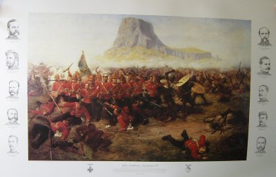 Battle of Isandhlwana by Charles Fripp. (A)