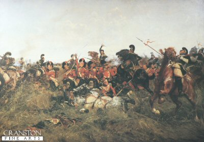 Quatre Bras (Black Watch at Bay) by William Barnes Wollen.