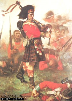 Piper Kenneth Mackay at Waterloo by J. B. Anderson.