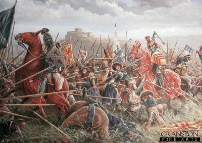 (Detail from) The Battle of Bannockburn by Mark Churms (PC)