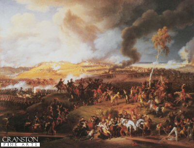 DHM037.  Battle of Moscow by Lejeune. <b><p>Open edition print. <p> Image size 30 inches x 21 inches (76cm x 53cm)