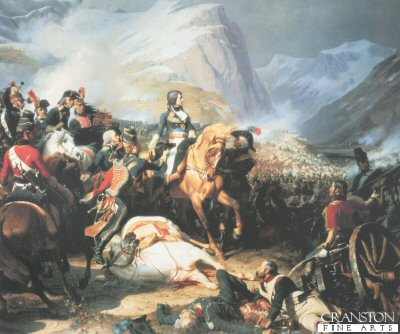 DHM045.  Battle of Rivoli by Felix Philipoteaux. <b><p>Open edition print. <p> Image size 21 inches x 17 inches (53cm x 43cm)