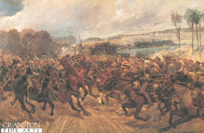 Charge of the 9th Lancers by Richard Caton Woodville. (B)
