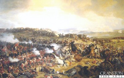 The Battle of Waterloo by Felix Philippoteaux. (GS)