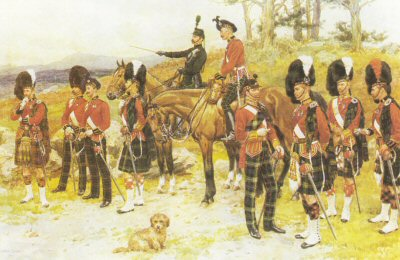 Scottish Regiments of the British Army by Frank Dadd.