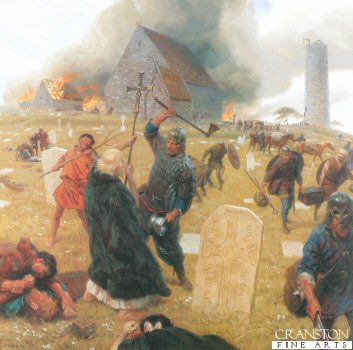 Norse Marauders Wreak Mayhem by Tom Lovell.