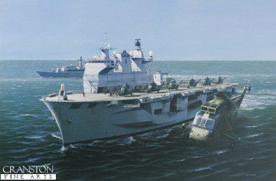 HMS Ocean by Ivan Berryman.