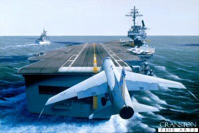 USS America by Ivan Berryman.