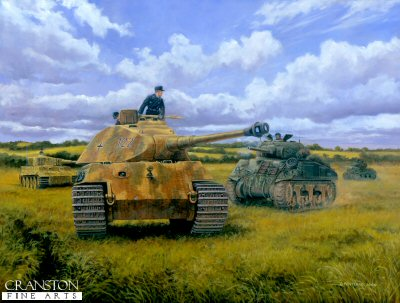 Prepare to Ram, Operation Goodwood, normandy, 18th July 1944 by David Pentland. (D)