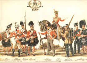 Uniforms of the 74th Highland Regiment by Haswell Miller.