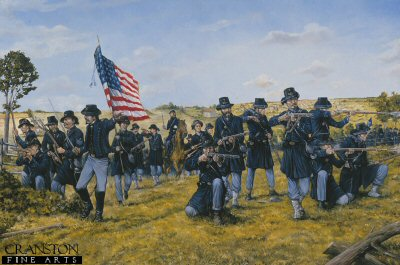 The Iron Brigade During the Battle of Gettysburg, 1863 by Brian Palmer.