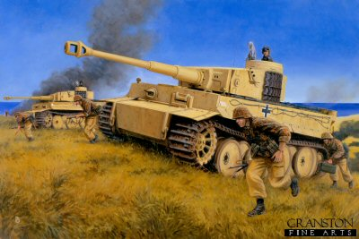 Strike For Gela, Sicily, 11th June 1943 by David Pentland. (P)