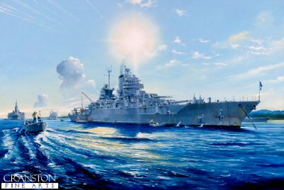 USS Mississippi BB41 by Randall Wilson.