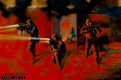Assault on the Iranian Embassy by the Pagoda Troop 22 SAS by Graeme Lothian. (P)