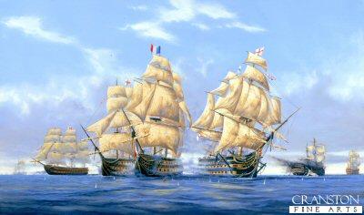 HMS Victory at the Battle of Trafalgar by Graeme Lothian.