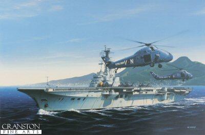 HMS Bulwark at Hong Kong by Ivan Berryman (GS)
