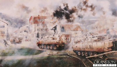 1st Battalion Cheshire Regiment by David Rowlands.
