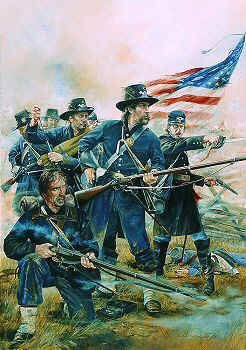 The Iron Brigade, 2nd Wisconsin Volunteer Infantry Regiment, Brawners Farm August 1862 by Chris Collingwood (Y)