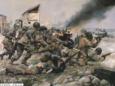 Fighting for a Foothold, 82nd Airborne at St Mere Eglise, 1944 by Chris Collingwood.