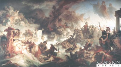 Battle of Salamis, 23rd September 480BC by Wilhelm von Kaulbach.