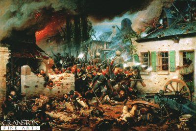 Prussian Attack Plancenoit by Adolf Northern.