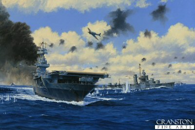 USS Yorktown at the Battle of Midway by Anthony Saunders