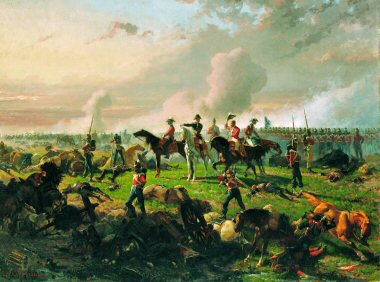 The Battle of Waterloo by Auguste Doviane.