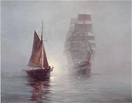 Night Mists by Montague Dawson.