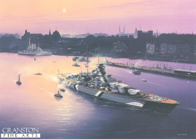 Bismarck at Hamburg by Ivan Berryman. (PC)