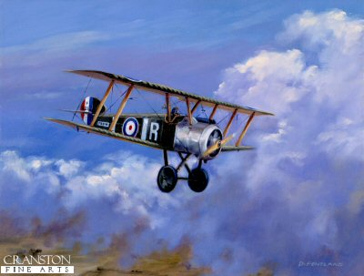 DHM1190. Homeward Bound - Sopwith Camel by David Pentland <p> 210 Squadron RAF 1918. <b><p> Limited edition of 1150 prints.  <p>Image size 12 inches x 8 inches (31cm x 20cm)