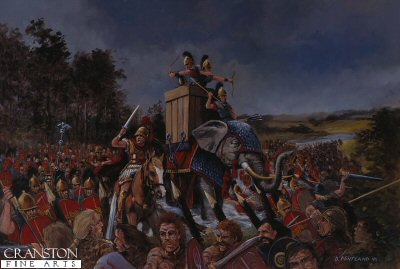 Julius Caesar Crossing the Thames, Summer 54BC by David Pentland. (PC)
