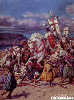 Richard Lionheart at the Battle of Acre by Matania.